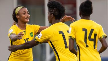 Foto de Acción durante el partido Cuba vs Jamaica correspondiente a la fase de grupos del sector B del Campeonato Femenino de la Concacaf 2018 realizado en el estadio H-E-B Park en la Ciudad de Edinburg, Texas. Mexsport