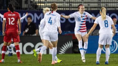 Foto del partido Canada vs Estados Unidos correspondiente a la Final del Campeonato Femenino de la Concacaf 2018 realizado en el estadio Toyota en la ciudad de Frisco, texas en Estados Unidos. Mexsport