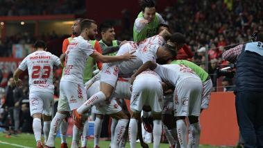 Los jugadores de Toluca celebran el triunfo. (Foto: Imago7)