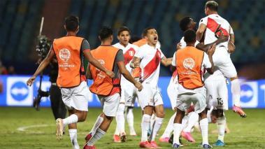 Festejo de la Selección de Perú. Twitter