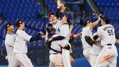 Japón celebra el oro en béisbol