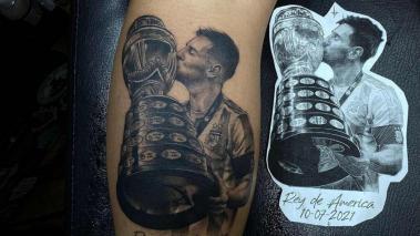 Tatuaje sobrino de Messi