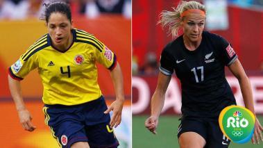 Colombia vs Nueva Zelada. Foto: Getty