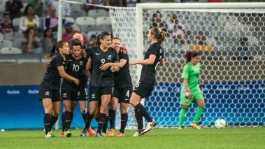 Nueva Zelanda sorprende al derrotar a Colombia en el fútbol femenino. Foto: Getty Images