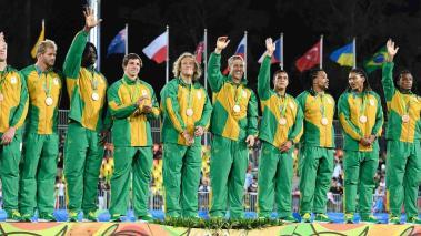 Sudáfrica se cuelga el bronce en el rugby. Foto: Getty Images