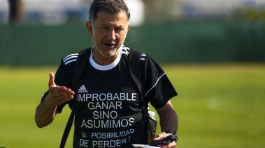 Juan Carlos Osorio Director Técnico, durante el entrenamiento de la Selección Nacional de México, previo a su participación en la Copa Oro 2017, celebrado en la Universidad de San Diego. Foto: Imago7