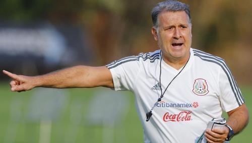 Gerardo Tata Martino director tecnico, durante el entrenamiento de la Selección Nacional de México, celebrado en el Centro de Alto Rendimiento. Foto: Imago7