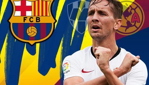Luuk de Jong llega al Barcelona procedente del Sevilla. (Footy Renders)
