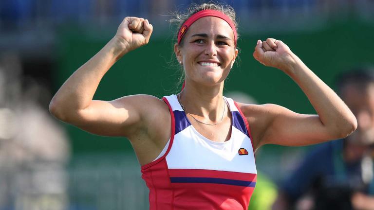 La joven tenista Mónica Puig, número 34 del ranking mundial, contra todos los pronósticos se colocó en los cuartos de final en los Juegos Olímpicos de Río 2016, convirtiéndose en una de las grandes esperanzas del tenis latinoamericano. Foto: Getty Images