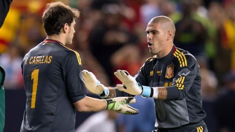 Casillas se despide de Valdés con sentido mensaje