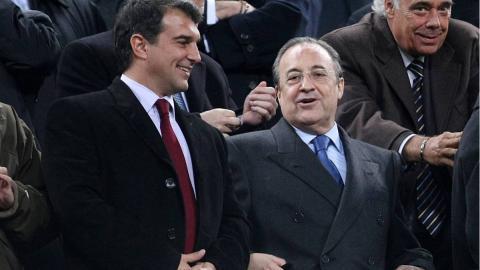 Florentino Pérez y Joan Laporta insisten con la Superliga. (FOTO: EFE)