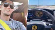 El mexicano presumió su Ferrari, corriéndolo. (AlanPulido)