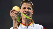 Ruth Beitia, de España gana el oro en salto de altura. (EFE)